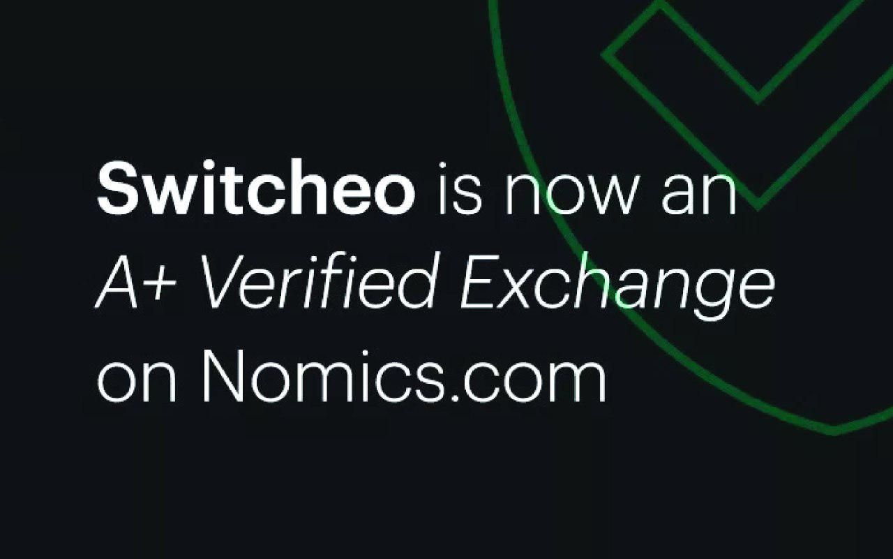 "[Review] Switcheo Is Named an ""A+ Verified Exchange"" by Nomics"