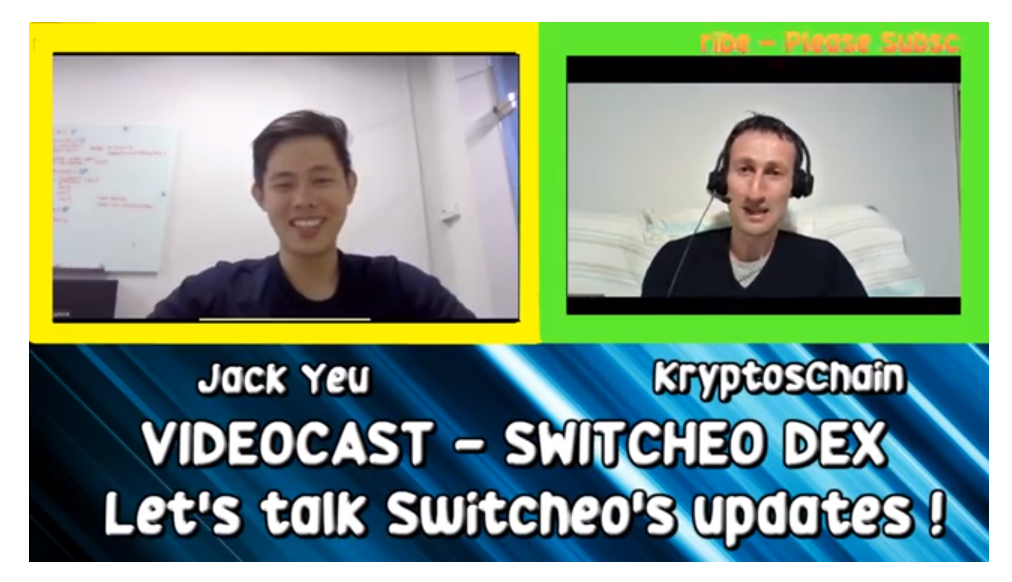 (Interview) Switcheo DEX Videocast with Jack Yeu!