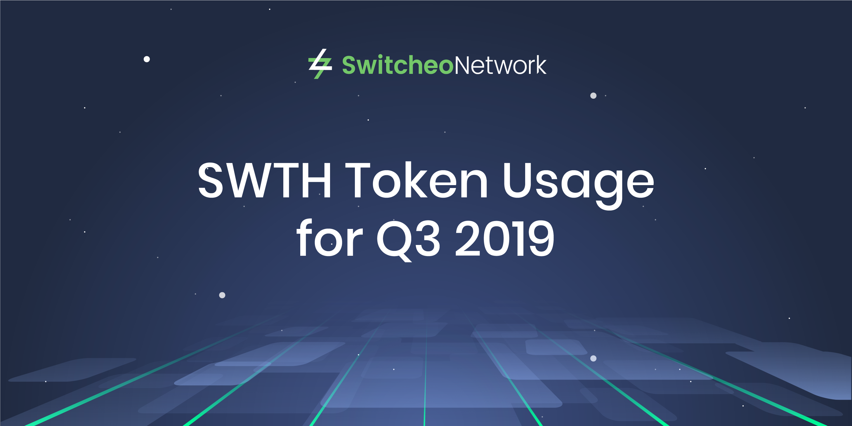 SWTH Token Usage for Q3 2019