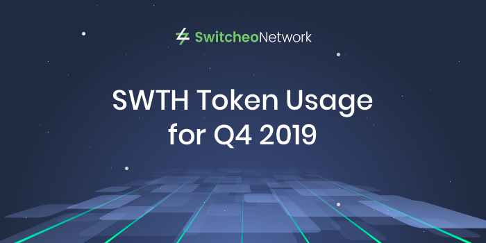 SWTH Token Usage for Q4 2019