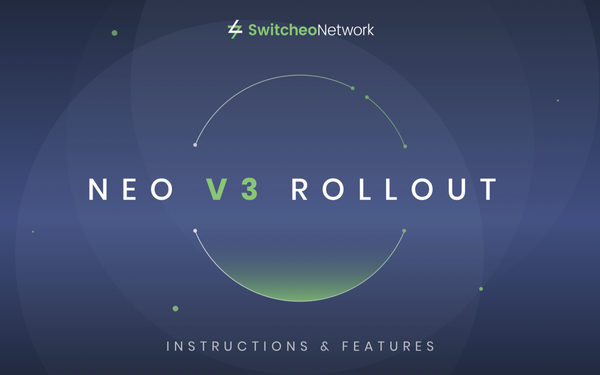 Switcheo Exchange — NEO V3 Rollout!