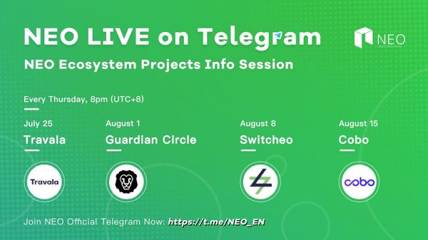 [AMA] NEO Live AMA on Telegram — Ask Us Anything!