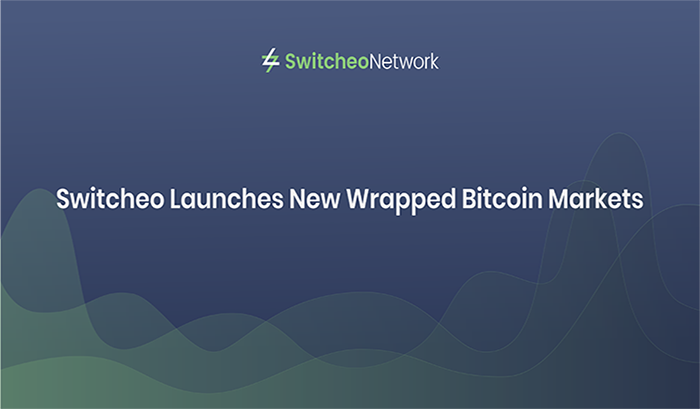 Switcheo Launches New Wrapped Bitcoin Markets