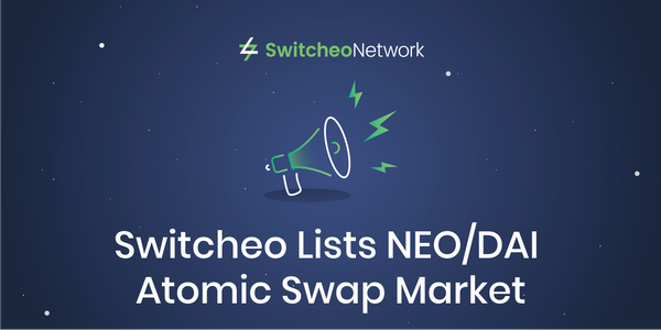 Switcheo Lists NEO/DAI Atomic Swap Market