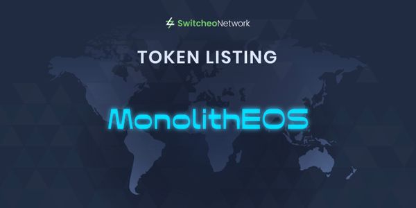 Switcheo Lists MonolithEOS