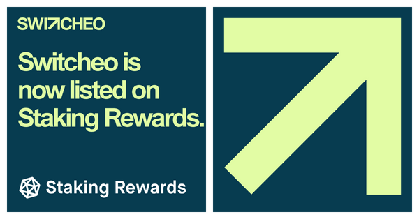 Switcheo Is Now Listed on Staking Rewards!